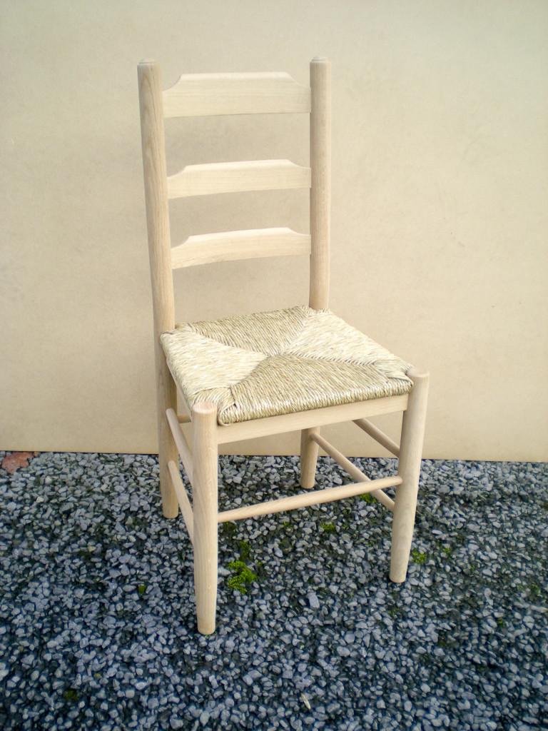 chaise en chêne blanc européen classique
