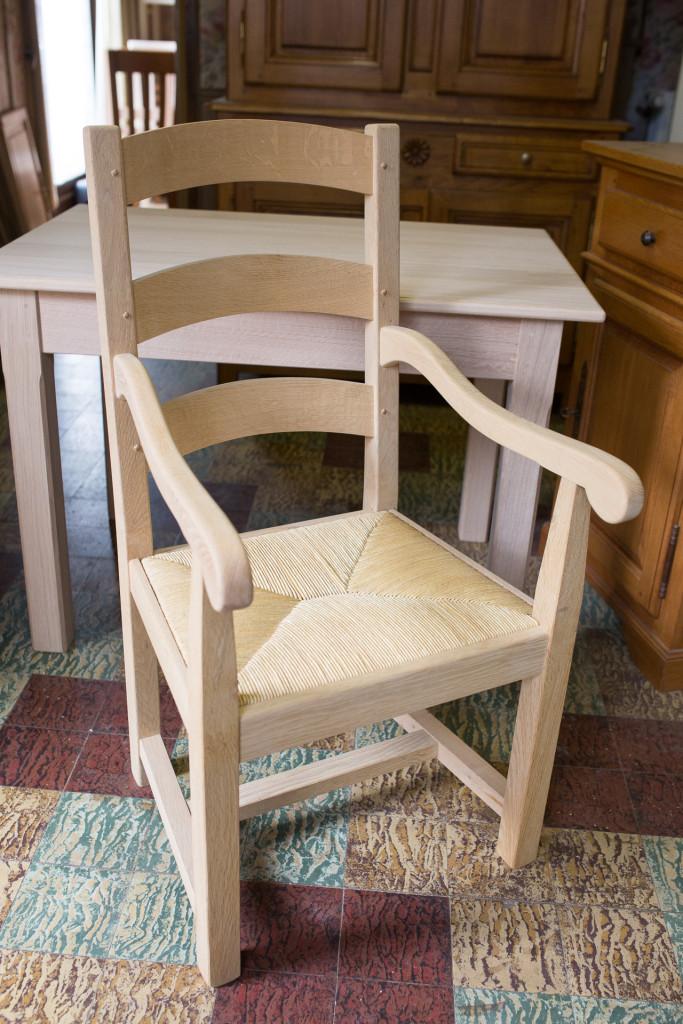 fauteuil sur mesure - menuiserie Serriez Ledru Belgique